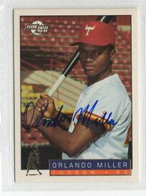 【送料無料】スポーツ メモリアル カード オーランドミラーサインカードヒューストンアストロズorlando miller 1993 fleer excel signed autographed card houston astros