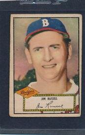 【送料無料】スポーツ メモリアル カード #ジムラッセルドジャースインク1952 topps red 051 jim russell dodgers poor glueinkpaper loss 52t51818151