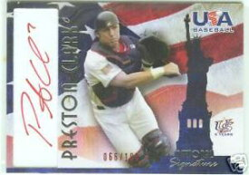 【送料無料】スポーツ メモリアル カード プレストンクラークアメリカインクサインカードpreston clark 2007 usa bb red ink autograph card
