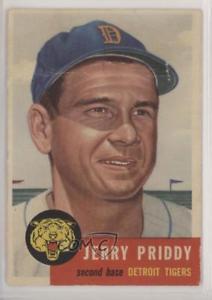 【送料無料】スポーツ メモリアル カード 1953トップス113ジェリーpriddyデトロイトタイガースベースボールカード1953 topps 113 jerry priddy detroit tigers baseball card
