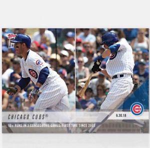 【送料無料】スポーツ メモリアル カード 103ゲーム2018トップスnow mlb 388カブ2018 topps now mlb 388 cubs 10 runs in 3 straight games
