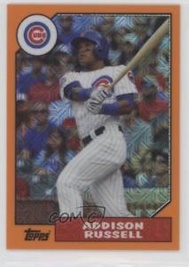 【送料無料】スポーツ メモリアル カード 2017オレンジ87aruアディソンラッセルシカゴカブスベースボールカード2017 orange 87aru addison russell chicago cubs baseball card