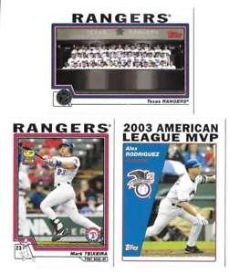 【送料無料】スポーツ メモリアル カード 2004topps texas rangersチームセット2004 topps texas rangers team set