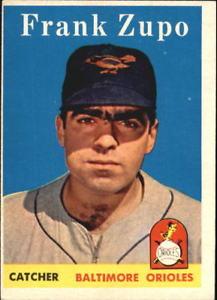 【送料無料】スポーツ メモリアル カード ボルティモアオリオールズカード#フランク1958 topps baltimore orioles baseball card 229 frank zupo rc exmt