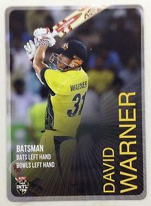 【送料無料】スポーツ メモリアル カード タップカードデビッドワーナー2014 tap n play base card international t20 david warner