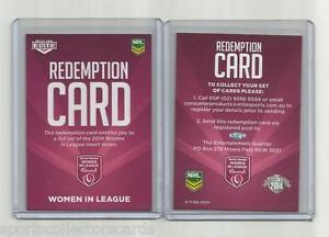 【送料無料】スポーツ メモリアル カード 2014nrl elite esp women in league redemption cardredeem for full set2014 nrl elite esp women in league redemption card red