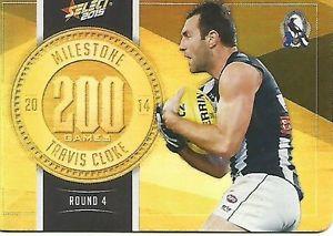 【送料無料】スポーツ メモリアル カード select 2015milestone 200game collingwood t clokeselect 2015 milestone 200 game collingwood t cloke