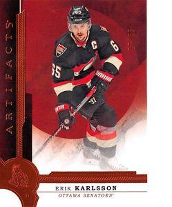 【送料無料】スポーツ メモリアル カード 201617 オレンジ117エリックkarlsson s55201617 artifacts orange 117 erik karlsson s 55