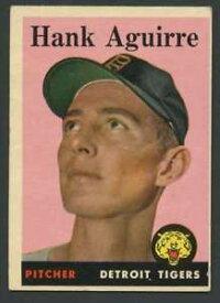 【送料無料】スポーツ メモリアル カード #ハンクタイガース1958 topps 337 hank aguirre exex tigers 21984