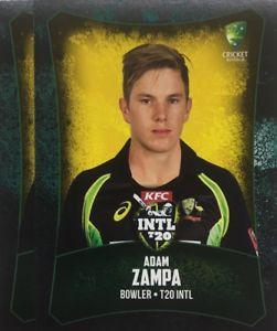 【送料無料】スポーツ メモリアル カード タップカードオーストラリアアダム2016 tap n play base card australia t20 adam zampa