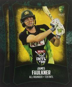 【送料無料】スポーツ メモリアル カード タップカードオーストラリアジェームズフォークナー2016 tap n play base card australia t20 james faulkner