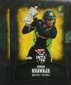 【送料無料】スポーツ メモリアル カード タップカードオーストラリア2016 tap n play base card australia t20 usman khawaja