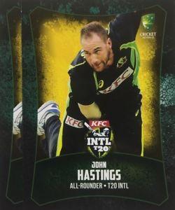【送料無料】スポーツ メモリアル カード タップカードオーストラリアジョンヘイスティングス2016 tap n play base card australia t20 john hastings