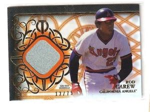 【送料無料】スポーツ メモリアル カード rod carew 2015topps tribute orange edition game usedjersey75 ̄angelsrod carew 2015 topps tribute orange edition game used j