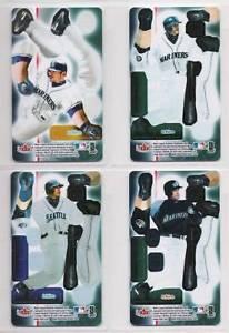 【送料無料】スポーツ メモリアル カード 20033d4セットカード2003 fleer 3d ichiro suzuki 4 card set