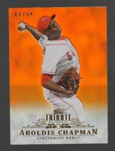【送料無料】スポーツ メモリアル カード 2013トップスorange78 aroldisチャップマン*4350*2013 topps tribute orange 78 aroldis chapman *4350 *