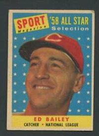 【送料無料】スポーツ メモリアル カード 1958トップス490エドベイリーexexレッズas242981958 topps 490 ed bailey exex reds as 24298