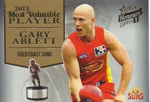 【送料無料】スポーツ メモリアル カード ゲーリーablett 2014**ゴールドコーストgary ablett 2014 select honours *most valuable player* gold coast