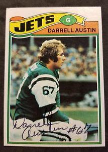 【送料無料】スポーツ メモリアル カード オースティンニューヨークジェッツ#サインサッカーカードdarrell austin york jets nfl 1977 topps 357 autographed football card
