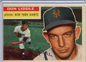 【送料無料】スポーツ メモリアル カード 1956トップスベースボールカードドンliddle gbピッチャーニューヨークジャイアンツex3251956 topps baseball card don liddle gb pitcher york giants ex 325