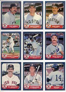 【送料無料】スポーツ メモリアル カード 1986ボストンレッドソックス22カードチームセットウェードボグスジムライス1986 fleer boston red sox 22card team set wade boggs jim rice