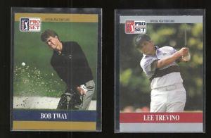 【送料無料】スポーツ メモリアル カード ボブトウェイプロゴルフセットカードプロモーションロットlee trevino amp; bob tway 1990 pro set golf 2card promo lot