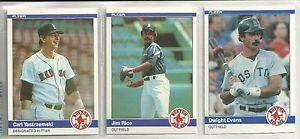 【送料無料】スポーツ メモリアル カード ボストンレッドソックスカードチームウェイドジムライスセット1984 fleer boston red sox 25card team set wade boggs jim rice
