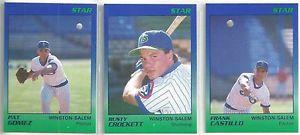【送料無料】スポーツ メモリアル カード スターウィンストンセーレムスピリッツカードマイナーリーグチームフランクカスティージョ1989 star winston m spirits 22card minor league team set frank castillo