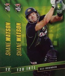 【送料無料】スポーツ メモリアル カード タップオーストラリアシェーンワトソン2015 tap n play australia t20 international shane watson