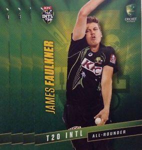 【送料無料】スポーツ メモリアル カード タップカードオーストラリアジェームズフォークナー2015 tap n play base card australia t20 james faulkner