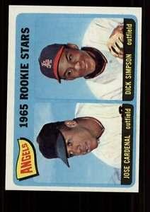 【送料無料】スポーツ メモリアル カード #シンプソン1965 topps baseball 374 jcardenal rcdsimpson angels starx 7 nm cs04817