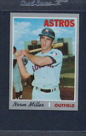 【送料無料】スポーツ メモリアル カード #ミラーアストロズマウント1970 topps 619 norm miller astros nmmt *5447