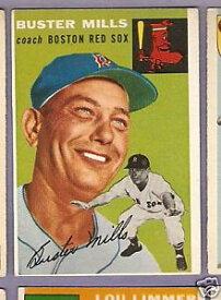 【送料無料】スポーツ メモリアル カード #バスターミル1954 topps bb 227 buster millsr sox ex