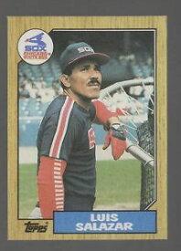 【送料無料】スポーツ メモリアル カード コレクターカード454 luis salazar 1987 baseball collector card