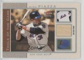 【送料無料】スポーツ メモリアル カード ゲームバットマイクピアッツァカードツール2003 fleer genuine tools of the game bat memorabilia tgmp mike piazza card