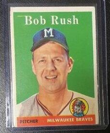 【送料無料】スポーツ メモリアル カード #ボブラッシュチームミルウォーキーブレーブス1958 topps 313 bob rush team milwaukee braves