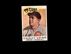 【送料無料】スポーツ メモリアル カード 1960トップス217チャーリーグリムmg exmtd5991331960 topps 217 charlie grimm mg exmt d599133