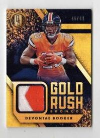 【送料無料】スポーツ メモリアル カード devontae booker nfl 2018 gold standard gold rushmaterials prime49broncosdevontae booker nfl 2018 gold standard gold rush m