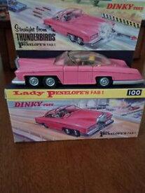 【送料無料】模型車 モデルカー スポーツカー ボックスレディペネロペファブdinky toys 100 lady penelopes fab1 from the thunderbirds wrepro box