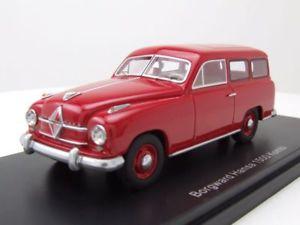 【送料無料】模型車 モデルカー スポーツカー ハンザコンビモデルカースケールモデルborgward hansa 1500 kombi 1951 rot, modellauto 143 neo scale models