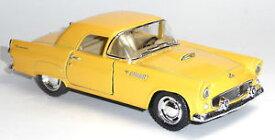 【送料無料】模型車 モデルカー スポーツカー フォードサンダーバードイエローキンマートブランドヴィンテージコレクタモデルneu 1955 ford thunderbird gelb 136 oldtimer sammlermodell von kinsmart neuware