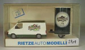 【送料無料】模型車 モデルカー スポーツカー フォードトランジットボックスペンダントスターソースビール#rietze 187 nr 80091 ford transit kasten anhnger sternquell brauerei ovp 2909