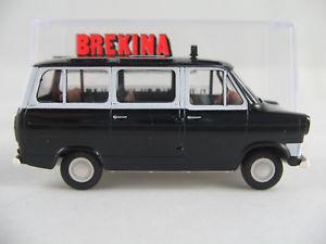 【送料無料】模型車 モデルカー スポーツカー brekina 34021 ford transit iia panoramabus 19651970 taxi 187h0 neuovp