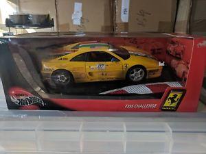 【送料無料】模型車 モデルカー スポーツカー ホットホイールフェラーリチャレンジレーススポーツカーhot wheels ferrari f355 challenge v8 sports race car 118