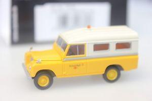 【送料無料】模型車 モデルカー スポーツカー ランドローバーホワイトイエローstarmada brekina land rover 109 british rail, weissgelb 13779 187