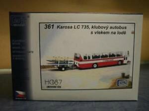 【送料無料】模型車 モデルカー スポーツカー バスバスボートトレーラーキットsdv bus bausatz stadtbus karosa lc735 klubbus mit bootsanhnger