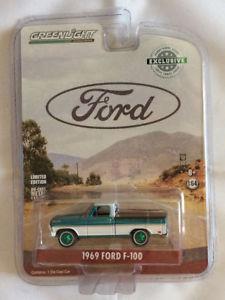 【送料無料】模型車 モデルカー スポーツカー ライトフォードベッドカバーマシンgreenlight 164 1969 ford f100 with bed cover hobby exclusive green machine