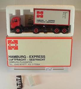 【送料無料】模型車 モデルカー スポーツカー herpa 187 werbemodell mb containersattelzug he hamburgexpress ovp 6711