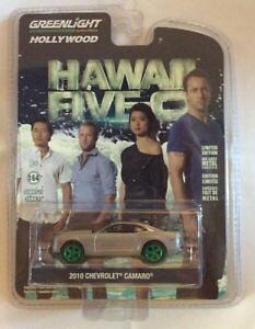 【送料無料】模型車 モデルカー スポーツカー ライトハリウッドシボレーカマロハワイグリーンマシンgreenlight 164 hollywood 2010 chevrolet camaro hawaii fiveo green machine