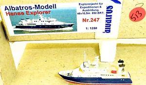 【送料無料】模型車 モデルカー スポーツカー ハンザエクスプローラアルバトロスモデルhansa explorer albatros nr 247 schiffsmodell 11250 shp513 *